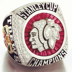 The 2013 Stanley Cup ring...Chicago Blackhawks Pride!