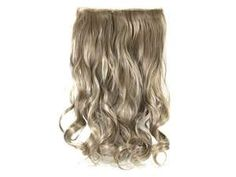 """17""""43cm 3/4 Full Head Clip in Synthetic Hair Extensions Human Made Wavy Curly Hair Wig(ash blonde)"""