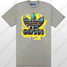adidas Originals Mens Old School Grey Trefoil T-Shirt at QV casuals. Save on a huge range of big brand tees.