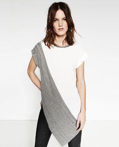 Image 2 of ASYMMETRIC TUNIC from Zara