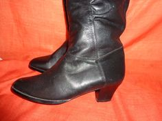 Vintage Stiefel - Stiefel*Vintage*Leder*schwarz*38* - ein Designerstück von SweetSweetVintage bei DaWanda