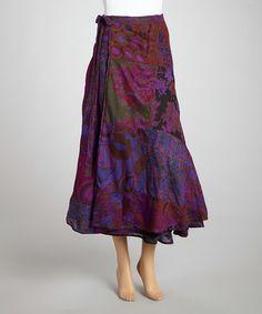 Purple Patchwork Reversible Wrap Skirt #zulily #zulilyfinds
