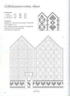 Photo from album Norske Luer - Norske Votter on Yandex.Disk - - Photo from album Norske Luer - Norske Votter on Yandex. Knitting Charts, Knitting Stitches, Baby Knitting, Knitting Patterns, Knitting Needles, Knitted Mittens Pattern, Crochet Mittens, Knitted Gloves, Crochet Chart