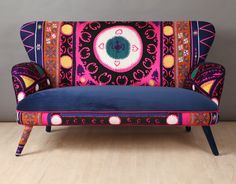 Suzani 2 seater sofa blue eye por namedesignstudio en Etsy