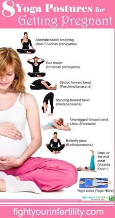 8 #Yoga postures for getting #pregnant naturally - #yogaposesforinfertility ---> http://tipsalud.com