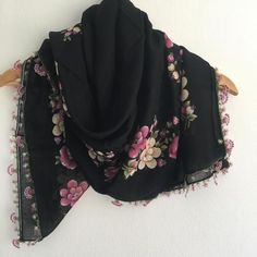 Gifts For Your Sister, Gifts For Friends, Cotton Scarf, Cotton Fabric, Types Of Lace, Spring Scarves, Lace Wrap, Bohemian Accessories, Turban Headbands
