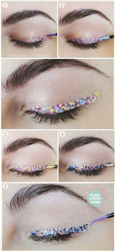 Party eye makeup