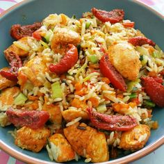 Kung Pao Chicken, Paella, Healthy Recipes, Healthy Food, Zucchini, Ethnic Recipes, Granen, Healthy Foods, Healthy Eating Recipes