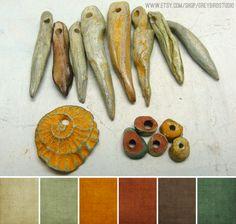 Art Bead Scene Blog: Art Bead Palette :: Grey Bird Studio (more beautiful, natural palettes on the site)