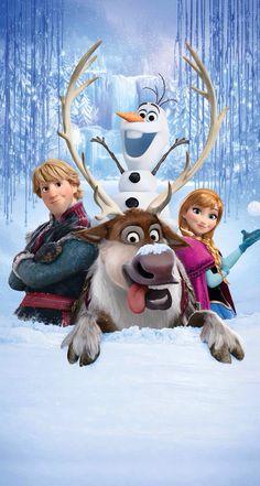 Disney Frozen Kristoff, Sven, Olaf picture #DisneyFrozen