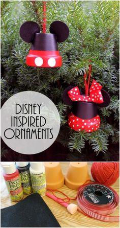 35+ Creative DIY Disney Christmas Ornaments Anyone Can Do