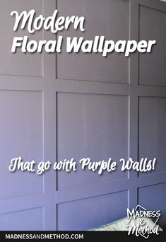 Looking for modern floral wallpaper with some purple? Check out this great roundup and follow the bedroom progress for the Spring 2020 One Room Challenge. Main Colors, Bold Colors, Modern Floral Wallpaper, Nursery Dresser, Closet Rod, Purple Walls, Wall Treatments, Outdoor Projects, Storage Solutions