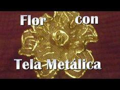 FLOR CON TELA METALICA - YouTube