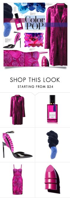 """Colour Pop"" by jaudrey ❤ liked on Polyvore featuring Haider Ackermann, OPI, Diana Vreeland, Yves Saint Laurent, Charlotte Simone, Notte by Marchesa, Anastasia Beverly Hills, Christopher Kane and statementcoats"