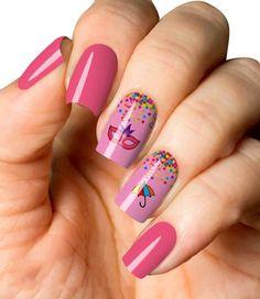 Carnaval com Máscara e Guarda-Chuvas Fabulous Nails, Acrylic Nails, Beauty, 3, Black Flowers, Nail Bling, Nice Nails, Designed Nails, White Nails