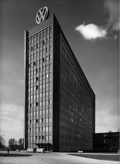 mpdrolet:  Volkswagen administration building, Wolfsburg, 1961 Heinrich Heidersberger