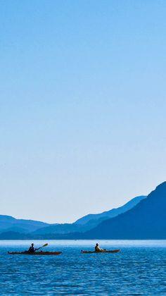 Kayaking in Squamish BC, Canada