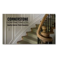 333 best construction business card templates images on pinterest construction carpentry contractor staircase trims business card template custom business cards business card templates fbccfo Choice Image