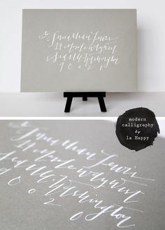 la happy modern calligraphy