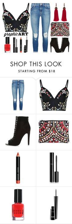 """Street Style Chic - Florals And Embellishments"" by latoyacl ❤ liked on Polyvore featuring J Brand, Glamorous, River Island, Boohoo, Bobbi Brown Cosmetics, Chanel, MAC Cosmetics and Lanvin"