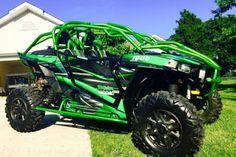 Polaris-RZR-1000-XP-graphics-wrap-kit-Pro-Armor-Door-decals-NO3333-Green