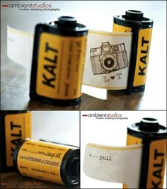 Creative Film Wedding Invitations