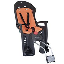 Excellent springing that protects the child's spine The Hamax freely suspended fastening bracket gives the child bike seat excellent springing that protects the child's spine.            A comfortable resting/sleeping position with Hamax bike seat The Siesta's sleeping function allows the child bike seat to be tilted backwards (max 20°) providing the child with a comfortable resting/sleeping position. If you also use the Hamax Neckroll, the child's head will remain steady.  Easy to ...