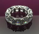 8mm asscher eternity ring sterling silver 925 Cubic zirconia AAAAA gra – isa bella jewellery