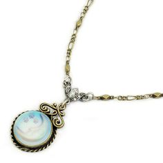 Sweet Romance Over the Moon Necklace | Overstock.com Shopping - Big Discounts on Sweet Romance Fashion Necklaces