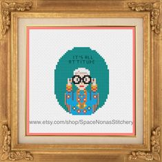 Iris Apfel  Cross Stitch Pattern  by SpaceNonasStitchery on Etsy