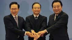 """""""China, S Korea and Japan set to begin free trade talks"""".  Chinese President Hu Jintao has met the leaders of South Korea and Japan, as the three countries agreed to begin negotiations on a free-trade pact. """"The establishment of a free-trade area will unleash the economic vitality of our region and give a strong boost to economic integration in East Asia,"""" said Chinese Premier Wen Jiabao."""