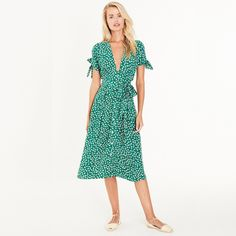 Faithfull The Brand Nina Midi Dress in Green Vintage Bloom