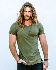 """ck Brock O'Hurn, I bet when he walks into a room, all the lady's think take off your shirt or everything if you like. But when I walk into that same room their praying don't take shit off. """"Now leave"""" ! Hommes Grunge, Brock Ohurn, Hair And Beard Styles, Long Hair Styles, Look Man, Great Beards, Awesome Beards, Beard Care, Good Looking Men"""