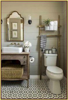 Small bathroom ideas – small bathroom decorating ideas on a budget Looking for small bathroom ideas? Take a look at our best small bathroom design ideas to inspire you to decorate your small bathroom on a budget Small Vintage Bathroom, Rustic Master Bathroom, Rustic Bathroom Designs, Modern Farmhouse Bathroom, Wooden Bathroom, Small Bathroom Storage, Rustic Bathrooms, Bathroom Design Small, Bathroom Ideas