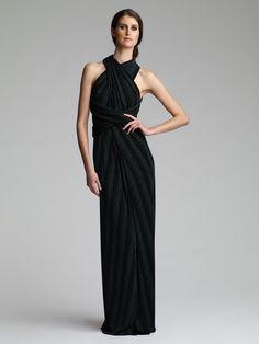 "Maxi Infinity Dress in ""Bianca"" Slinky by VINTAGE ORIGIN. via Etsy."