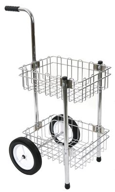 Chrome grooming cart holds all my grooming & tacking up essentials.  It rolls easily down the aisle from the tack room to the grooming stall.