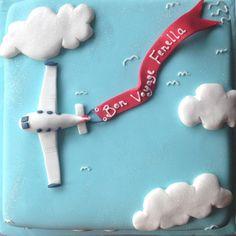 """Fondant Fetish - Bon Voyage cake - 10"""" square"""