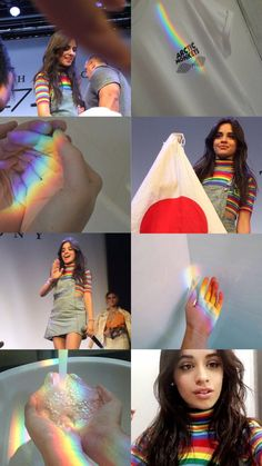 Camilla and that rainbow😁😂🌈🌈🌈 Beautiful Smile, Beautiful People, Pixie, Fifth Harmony Camren, Camila And Lauren, People Like, Aesthetic Wallpapers, My Girl, Rainbow