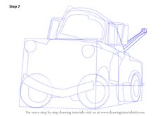 Step by Step How to Draw Tow Mater from Cars : DrawingTutorials101.com Cartoon Car Drawing, Cartoon Head, Car Drawings, Learn Drawing, Learn To Draw, Projects For Kids, Art Projects, Tow Mater, Car Themed Parties