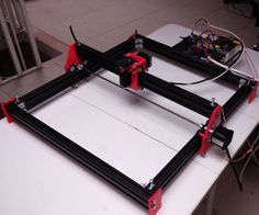 This machine is designed to make the laser engrave in wood and opaque plastic, having an Arduino and the GRBL as machine automation basis. The machine axis are just the X and Y axis, which move a laser with power 1w 445nm, and this article aims to provide everything you need to make, without waiving of mechanical and electronic knowledge. With around 170 euros can make one.My portuguese blog: www.logicamecatronica.com (like my blog on facebook please)
