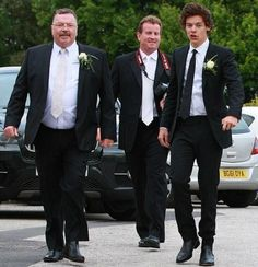 Harry Styles at his mom's wedding! They looked incredible, the whole fam! :) xx
