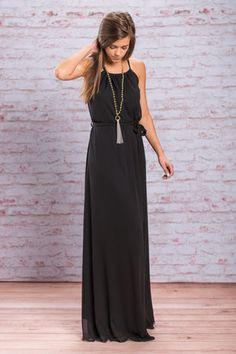 Your Future Awaits Maxi Dress, Black