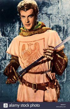 Stock Photo - Ivanhoe TV Series 1958 - 1959 UK Director: Lance Comfort, Arthur Crabtree Roger Moore Based on the novel by Sir Walter Scott Roger Moore, Jules Verne, My Youth, Great Memories, Tv Series, Vectors, Tv Shows, Novels, Wonder Woman