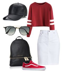 """""""Untitled #111"""" by ain1313 on Polyvore featuring Michael Kors, Barbour, Vans and Ray-Ban"""