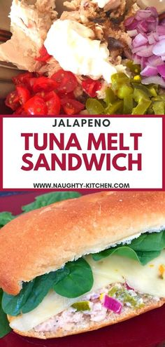 Give your Tuna Melt a flair of Jalapenos topped with slices of melted Pepperjack cheeses – Make this Jalapeno Tuna Melt Sandwich for lunch! #naughtykitchen #tunamelt #cannedtuna #cannedtunarecipes #recipeswithtuna #tuanmeltsandwich #easysandwich @naughtykitchen