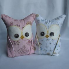 2 Owl Bookends Doorstops Paperweights by aprilfoss on Etsy, $44.00