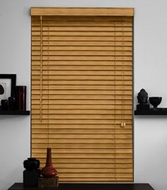 "as shown: 2"" laminated wood blinds 