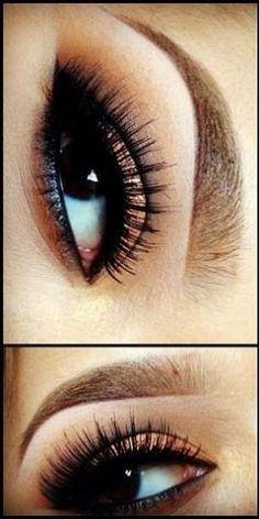 Brown smoky eye - This fashion
