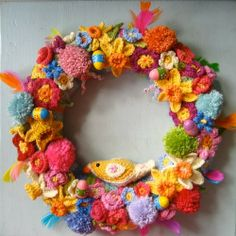 paas krans haken - crochet easter wreath - Bees and Appletrees (BLOG)