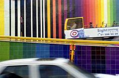 Eduardo Nery | Lisboa | Avenida Infante Santo | 2001 #Azulejo #EduardoNery #ArtePública #PublicArt